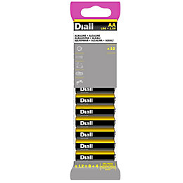 Diall AA Alkaline Battery, Pack of 12