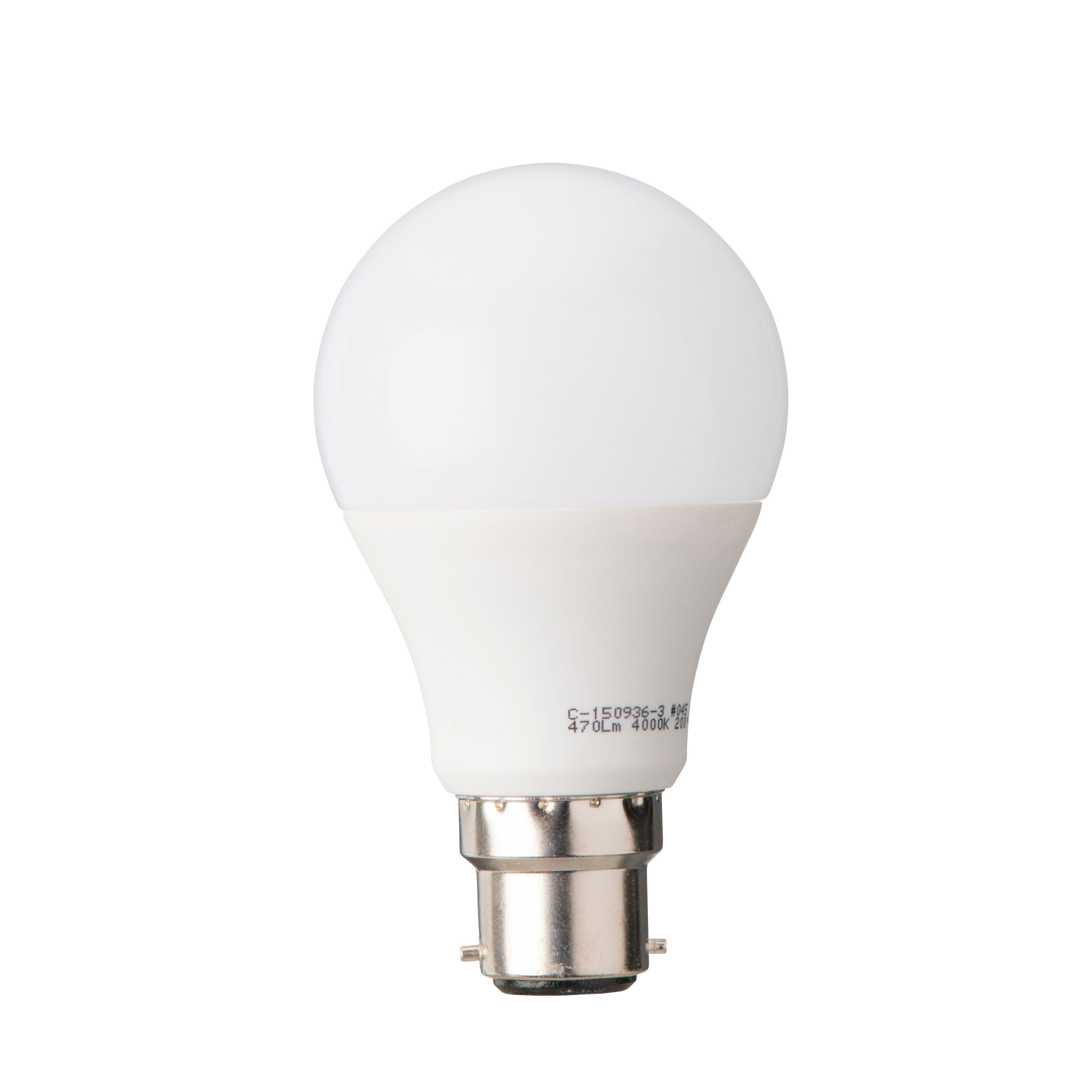 Diall B22 470lm LED Classic Light Bulb