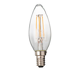 Diall E14 4W LED filament Candle Light bulb