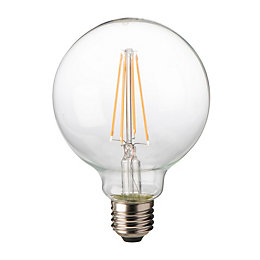 Diall E27 8W LED Filament Ball Light Bulb