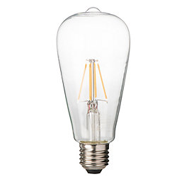 Diall E27 4W LED filament T26 Light bulb