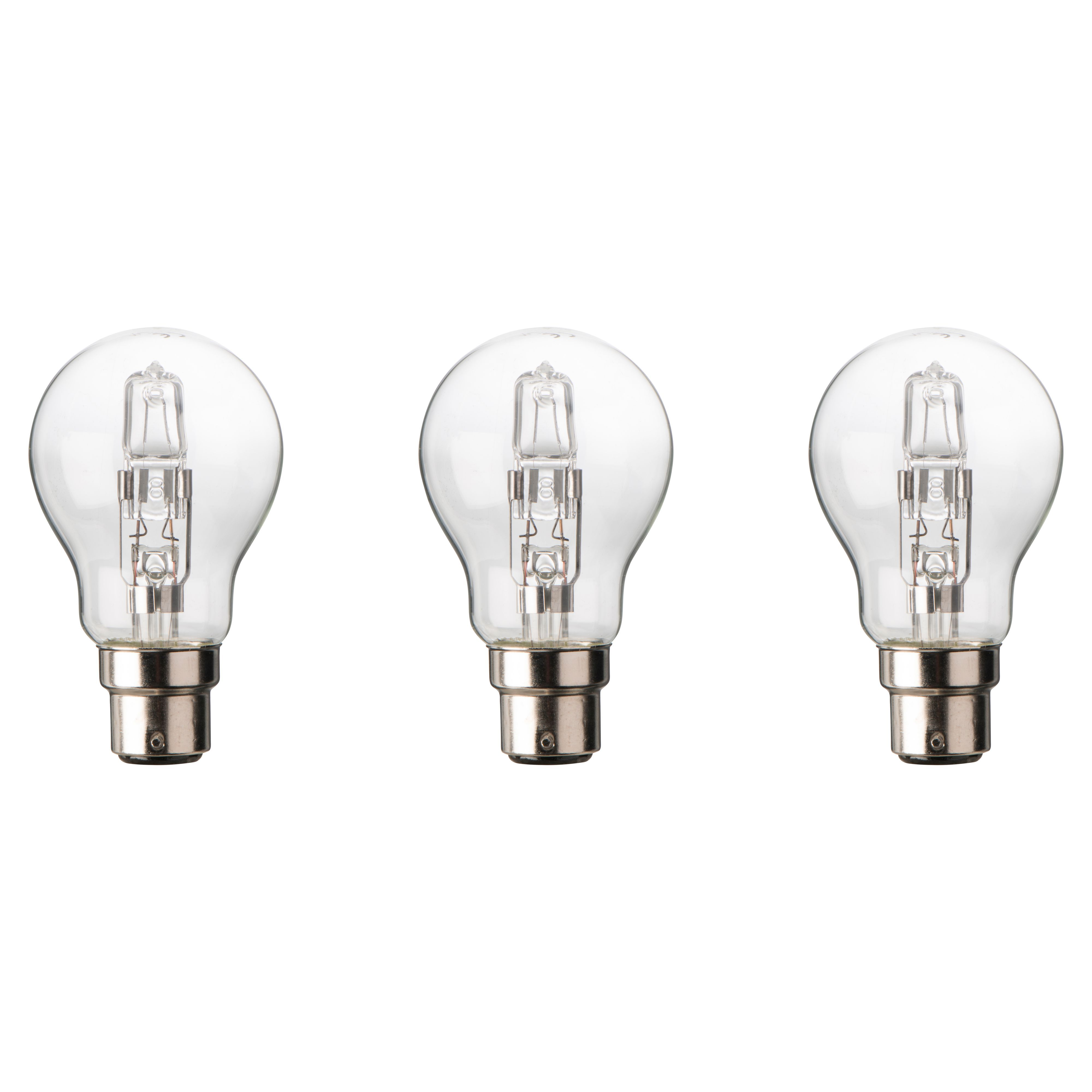 Diall B22 77W Halogen Dimmable Classic Light bulb, Pack of 3 | Departments  | DIY at B&Q