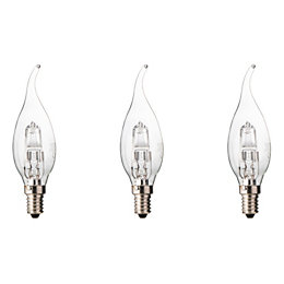 Diall E14 30W Halogen Dimmable Candle Bent Tip