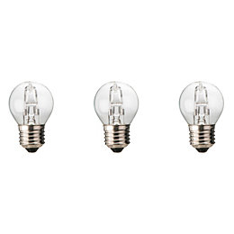 Diall E27 19W Halogen Dimmable Ball Light bulb,
