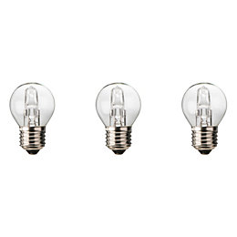 Diall E27 30W Halogen Dimmable Ball Light Bulb,