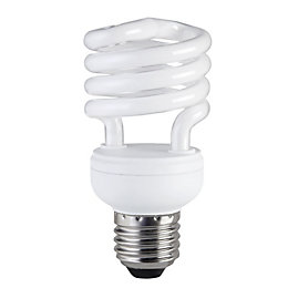 Diall E27 15W CFL Spiral Light Bulb