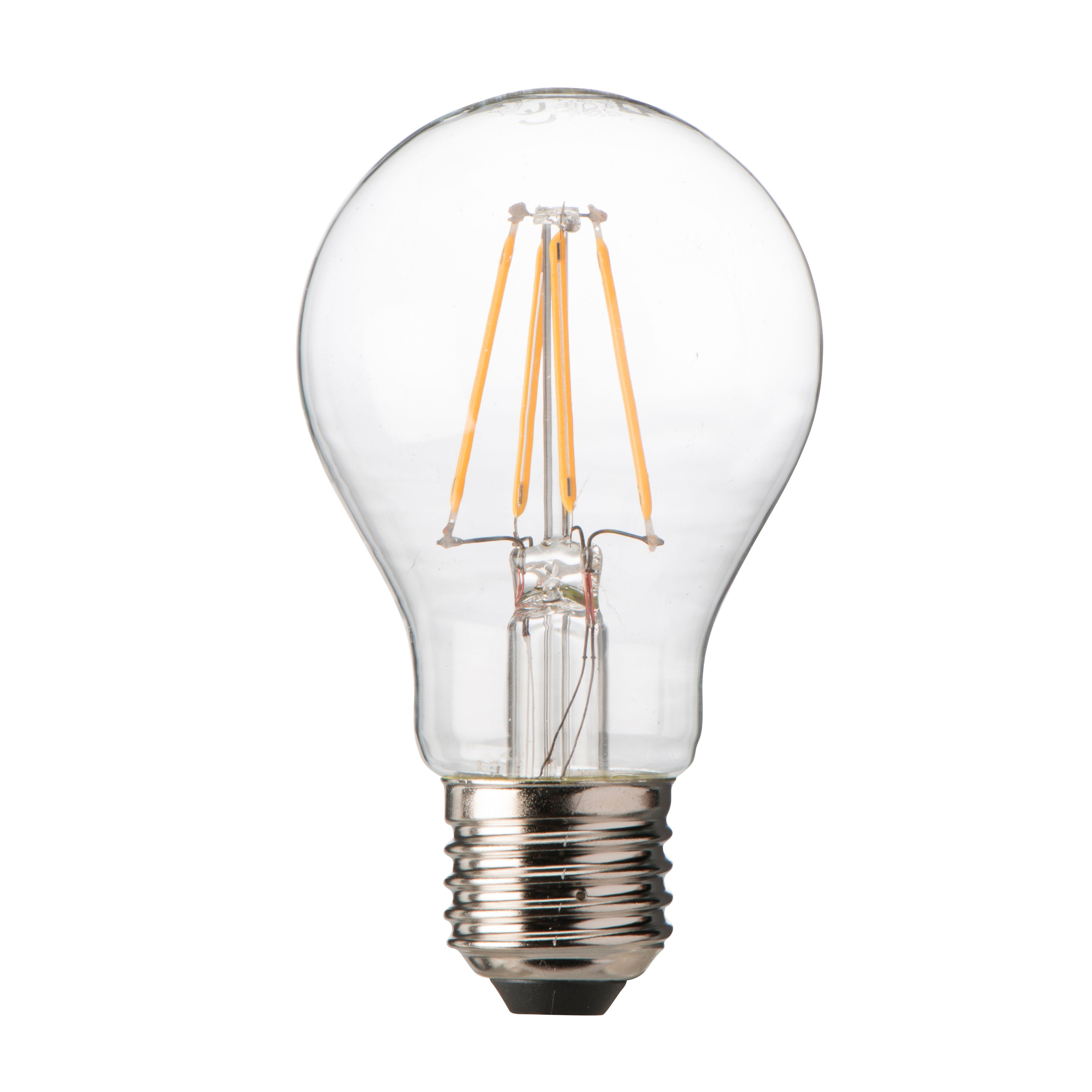 Diall E27 7.5W LED Filament Dimmable Classic Light Bulb