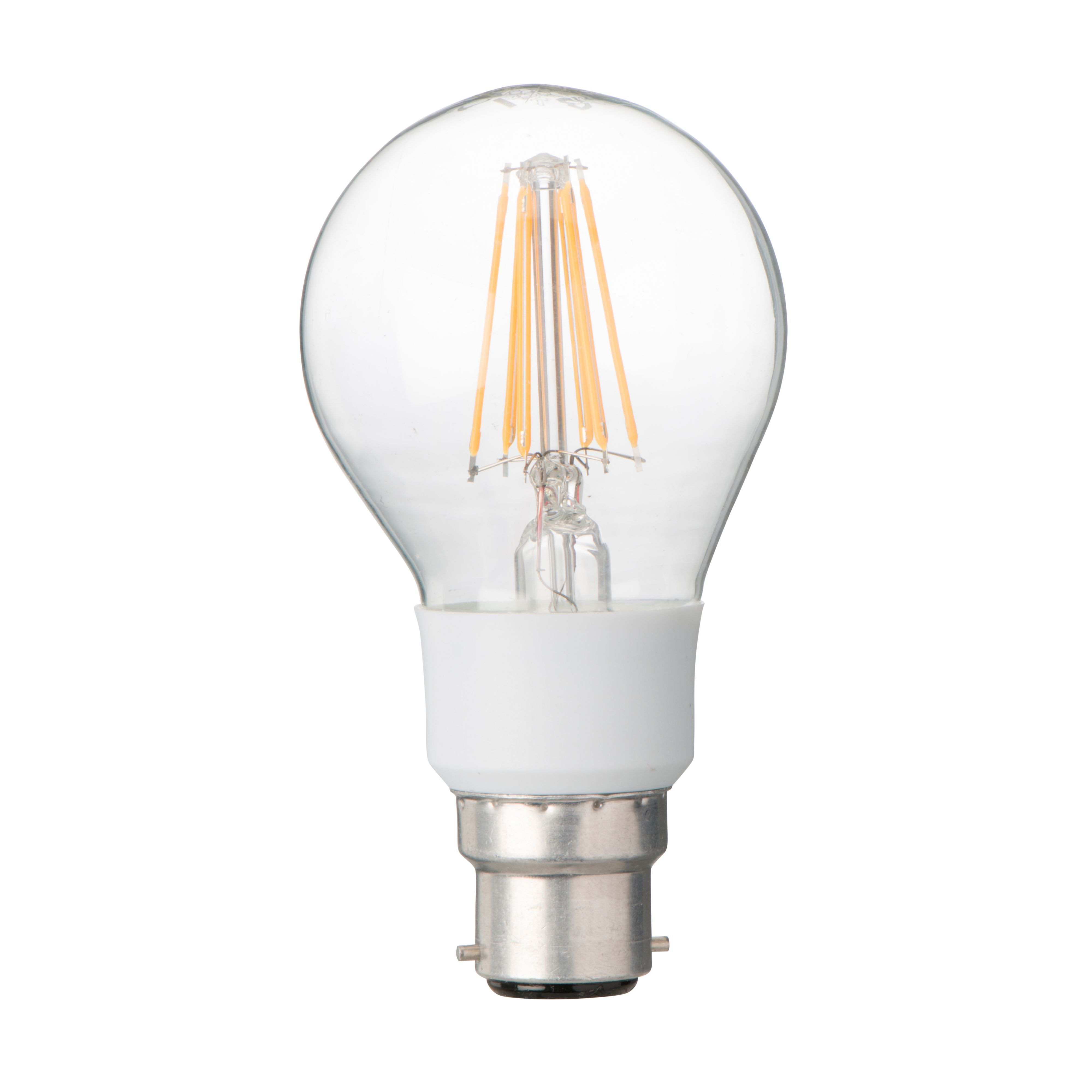 Diall B22 7W LED Filament Dimmable Classic Light Bulb