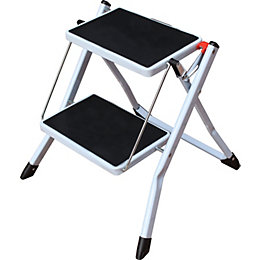 2 Tread Steel & Plastic Step Stool