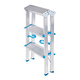 Mac Allister 6 Tread Aluminium Double Step Stool,