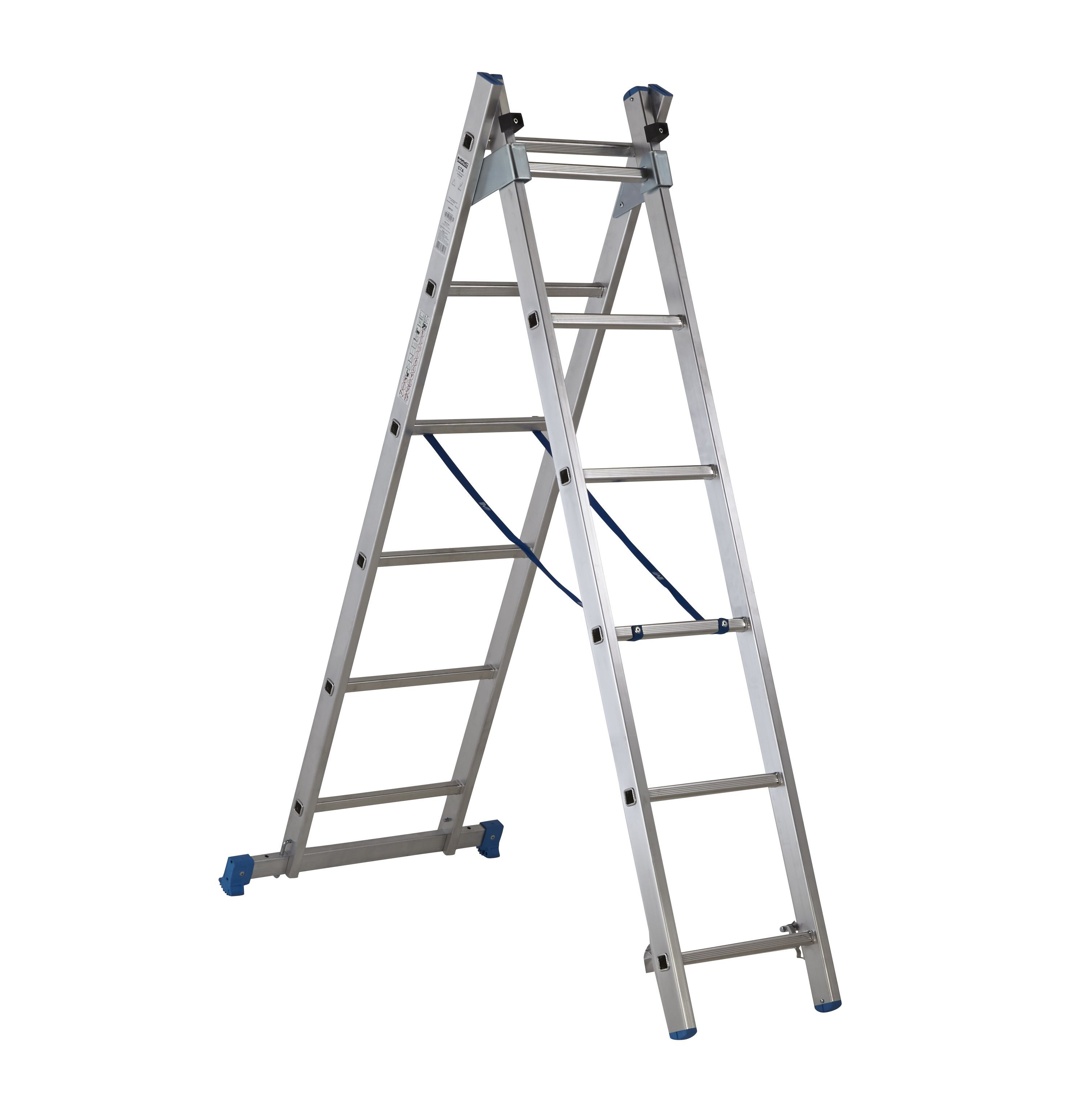 Mac Allister Trade 12 Tread Combination Ladder With Stair