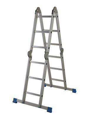 Mac Allister 12 Tread Folding Ladder With Platform