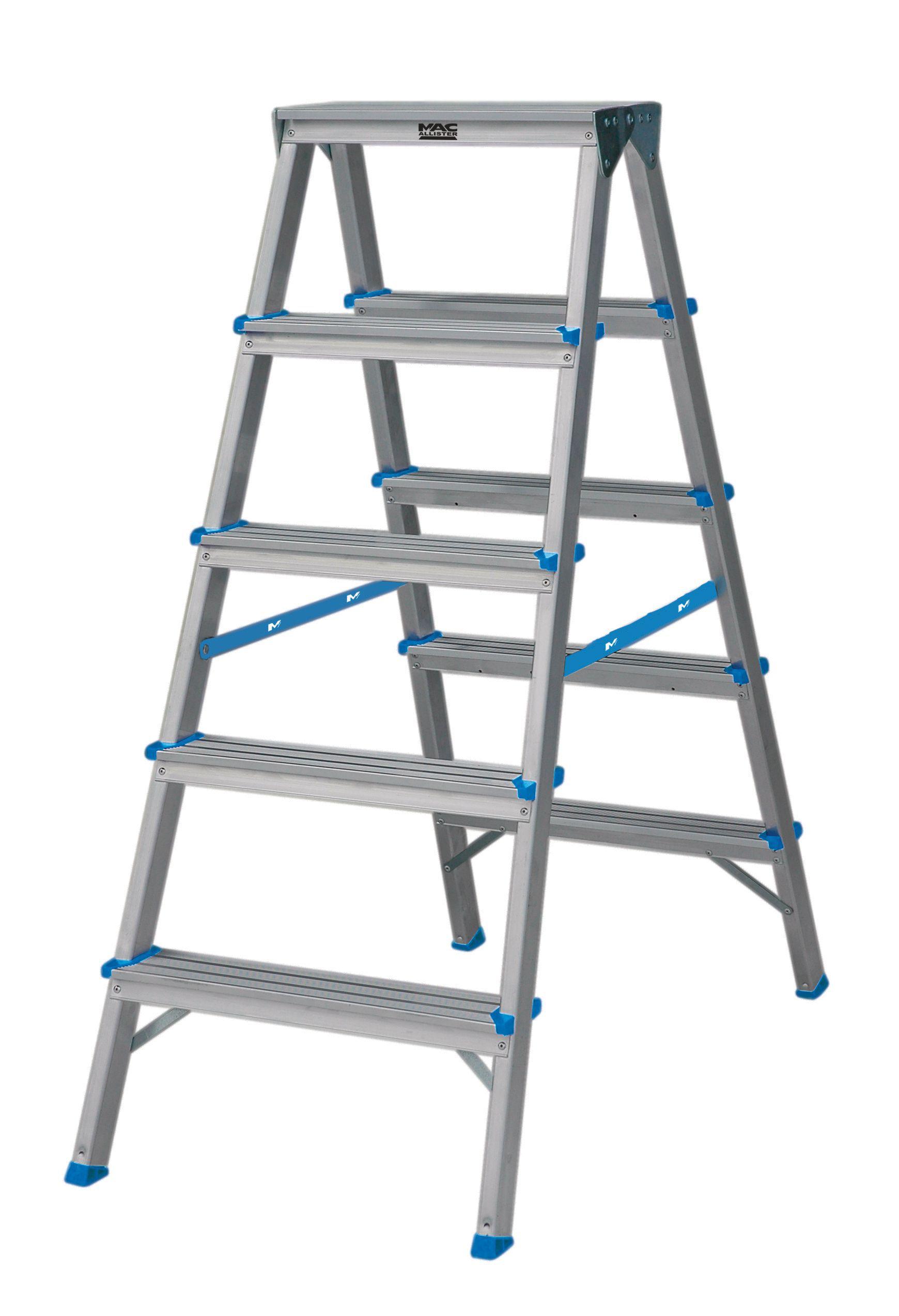 Mac Allister 10 Tread Aluminium Double Step Ladder