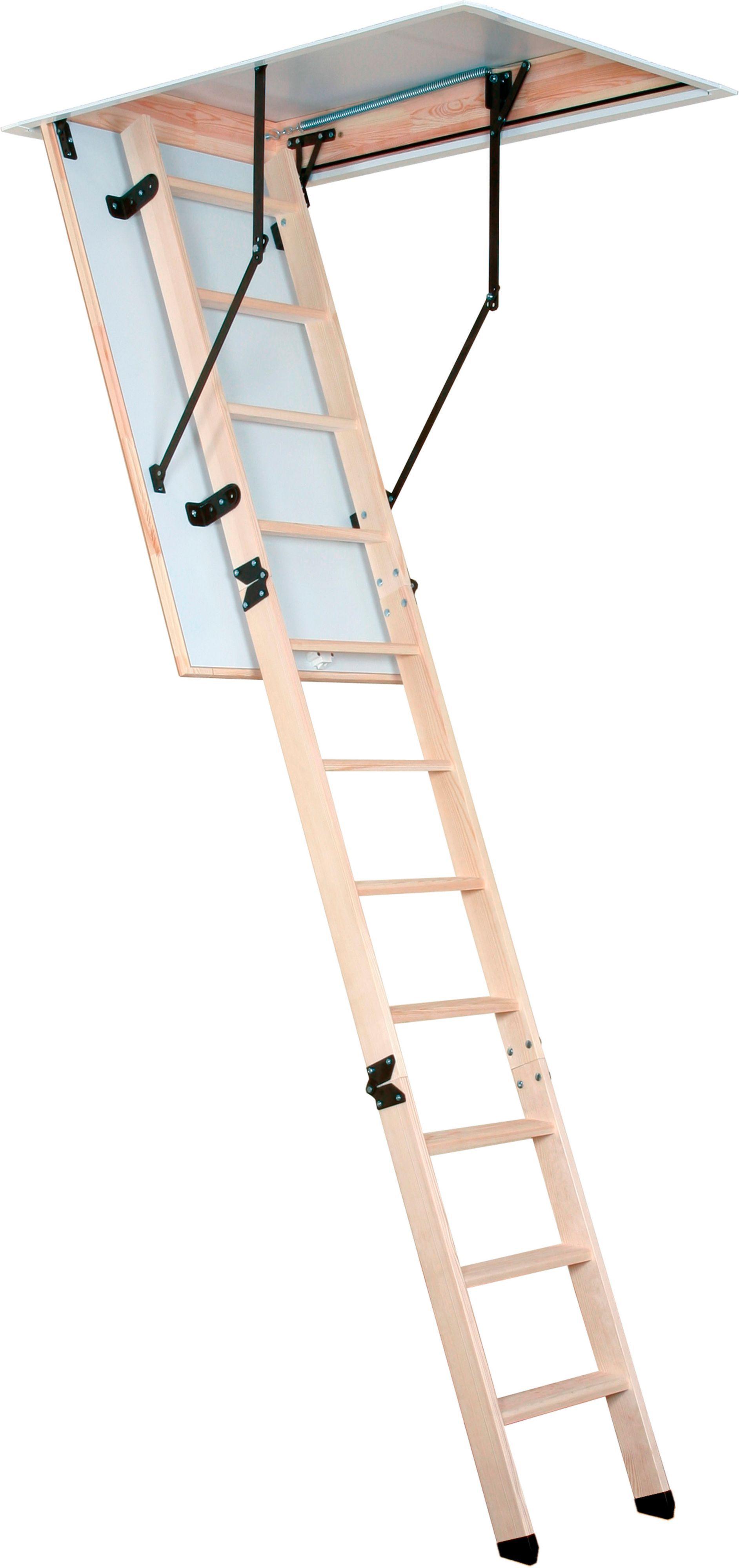 Mac Allister 3 Section 12 Tread Folding Loft Ladder