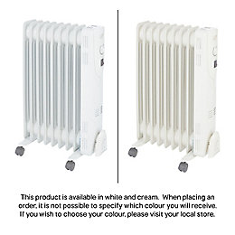 Electric 2000W Beige Oil Filled Radiator