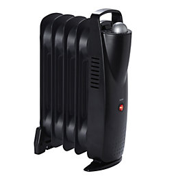 Electric 500W Black Oil filled radiator