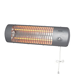 1000-1200W Grey Halogen Heater