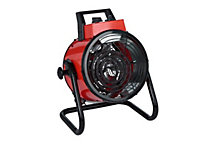 Electric 3000W red industrial fan heater