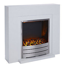 Blyss Beccles White LED Electric fire suite