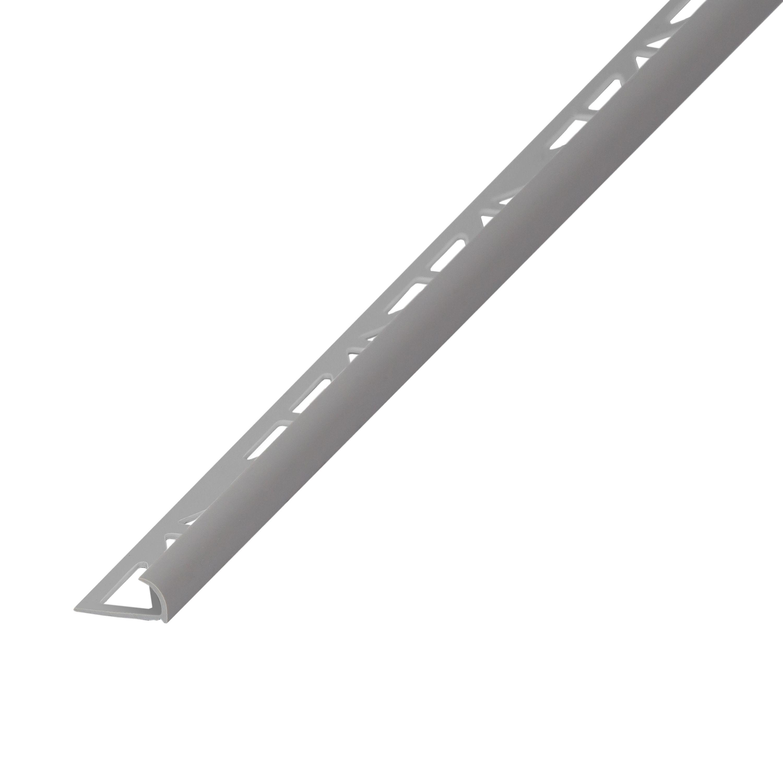 Diall Grey Pvc External Edge Tile Trim Departments Diy