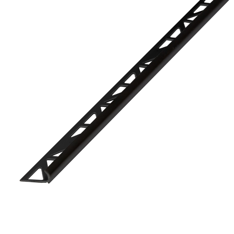 Homelux Black PVC Tiling trim, 9mm   Departments   DIY at B&Q