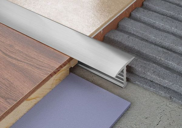 T-Shaped Dividing Tile Aluminium Profile
