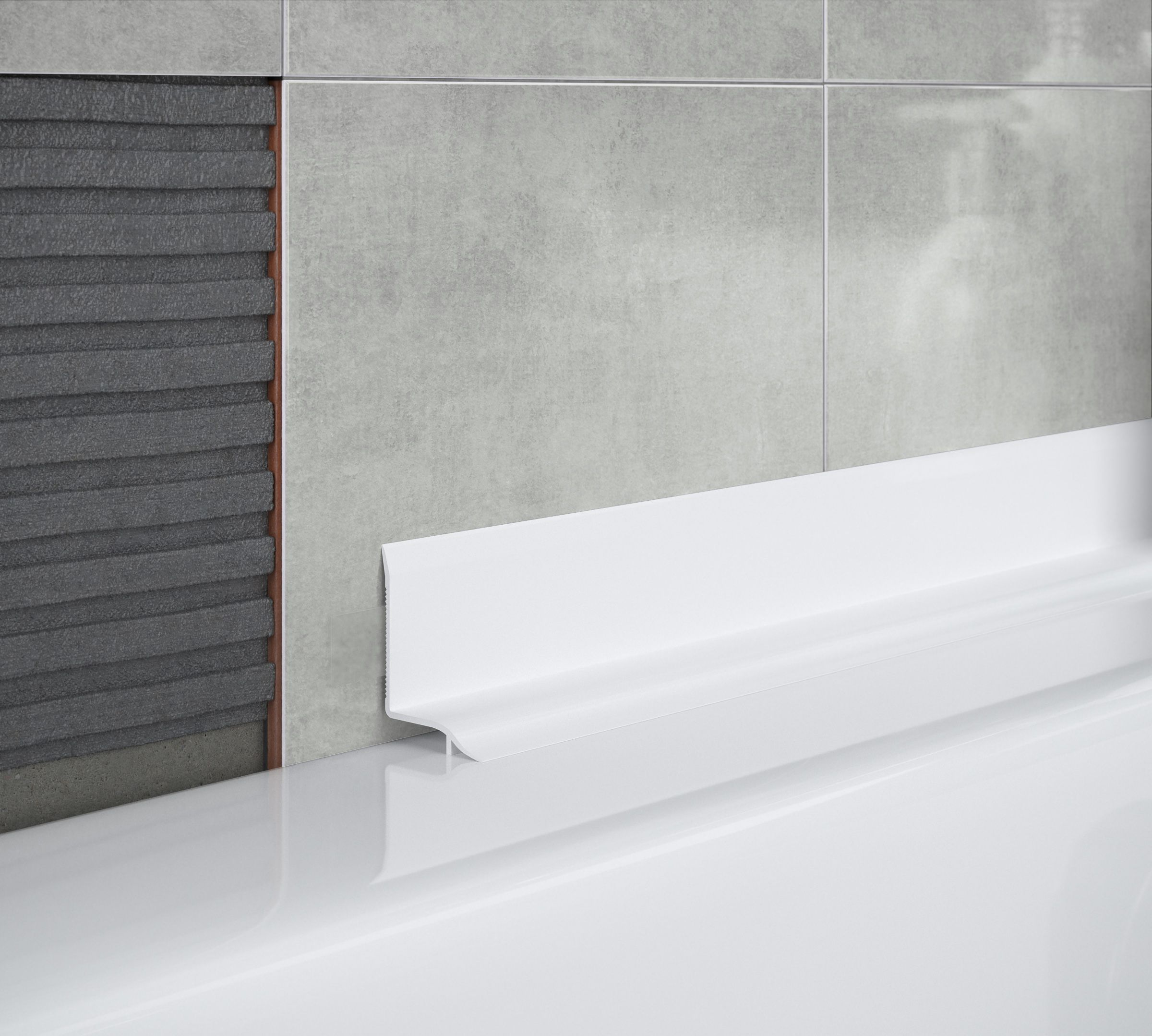 Superieur Self Adhesive Curved Bath Seal Trim