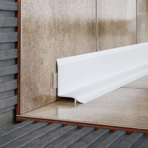 Tile trims aluminium plastic tile trims for Sealing bathroom tile