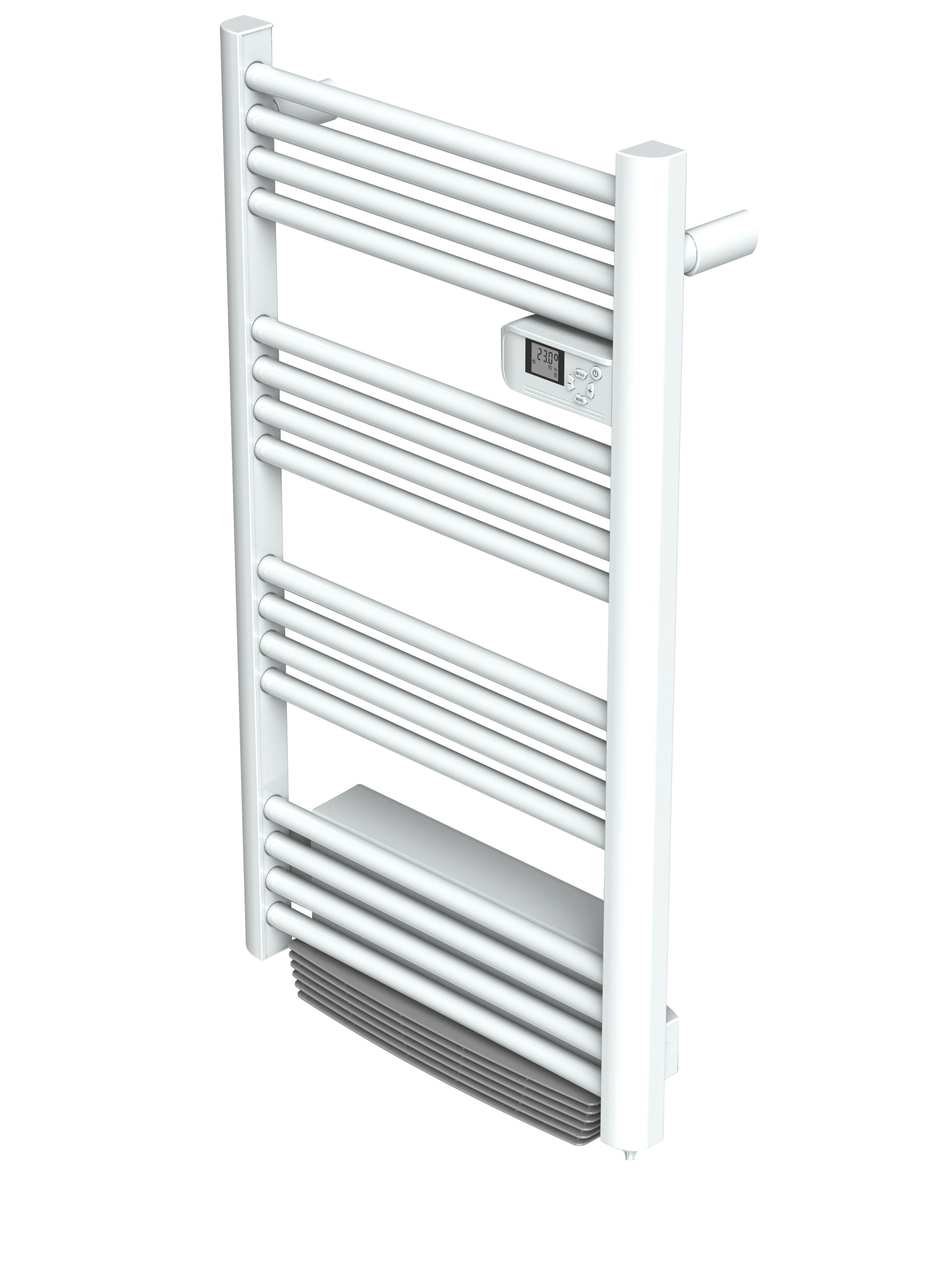 blyss 1500w white kita electrical towel warmer with blower