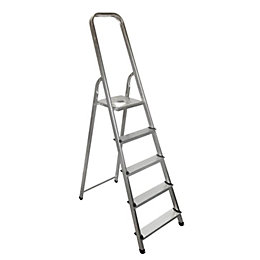 5 tread Aluminium Stepladder, 1.59m