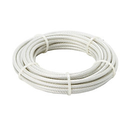 Diall Steel & PVC Cable 6mm x 10M