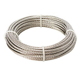 Diall Stainless steel Cable 3.5mm x 10m