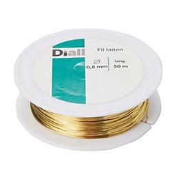 Diall Brass Brass Wire 0.8mm x 50M