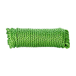 Diall Polypropylene Twisted Rope 8mm x 4.5M