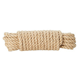 Diall Jute Jute Twisted Rope 8mm x 10M