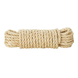 Diall Sisal Sisal Twisted Rope 8mm x 10M