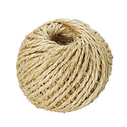 Diall Sisal Sisal Twisted Rope 2mm x 1.8M