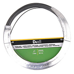 Diall Steel Piano wire 1mm x 12.3m