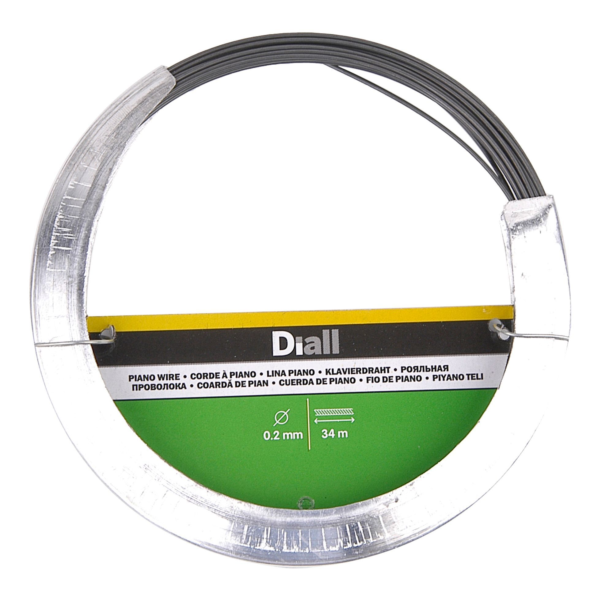 Diall Steel Piano Wire 0.2mm x 34M | Departments | DIY at B&Q