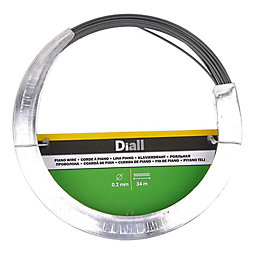 Diall Steel Piano wire 0.2mm x 34m