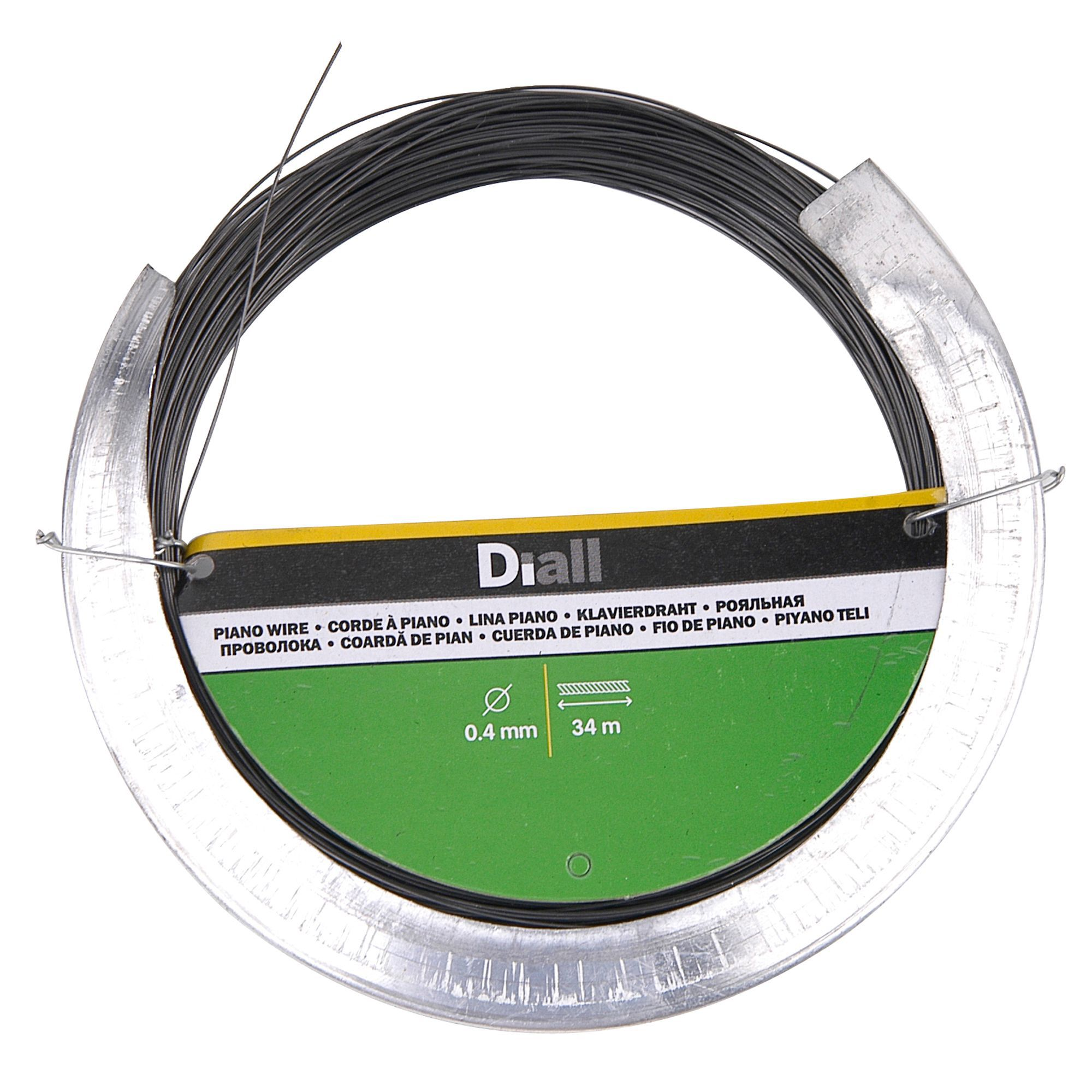 Diall Steel Piano Wire 0 4mm X 34m Departments Tradepoint