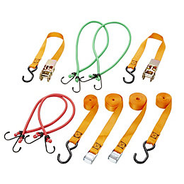 Diall Ratchet Tie Down & Hook, Pack of