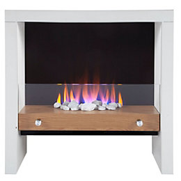 Blyss Poppy White LED Manual Control Electric Fire