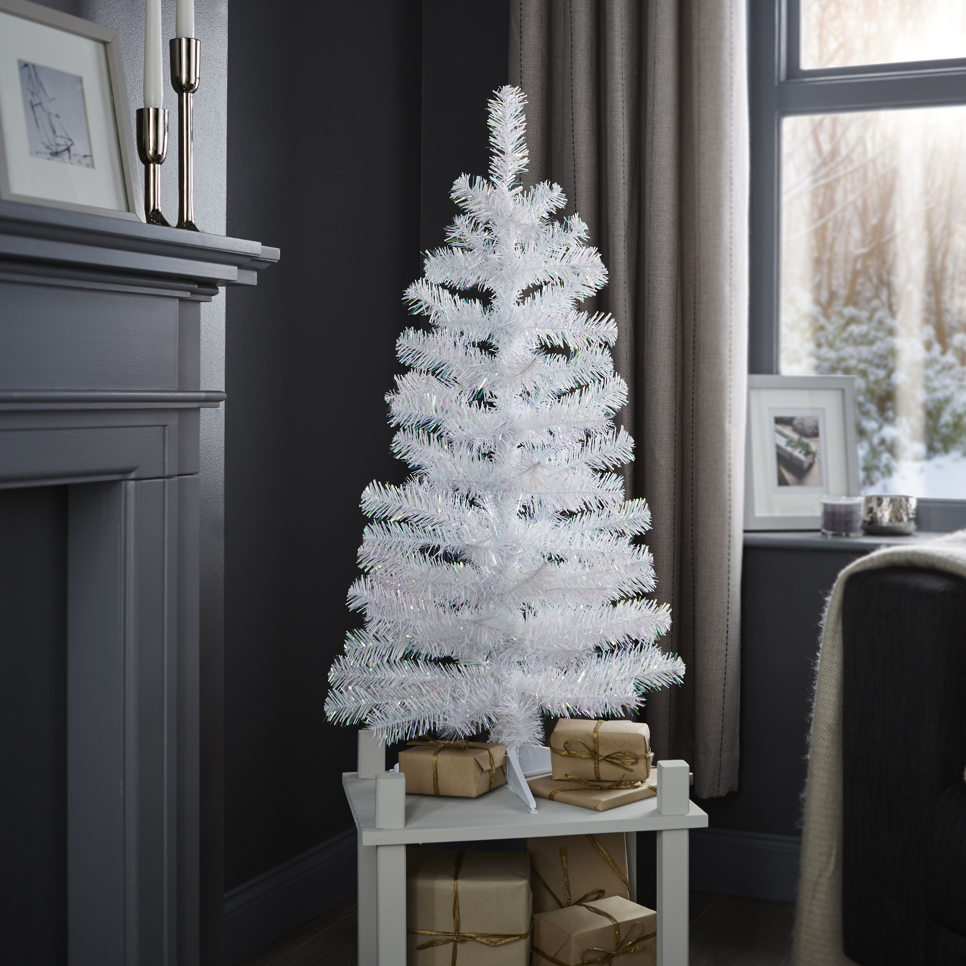 3ft White Christmas Tree.3ft White White Classic Christmas Tree Departments Diy At B Q