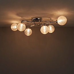 Oxeia Chrome effect 6 Lamp Ceiling light