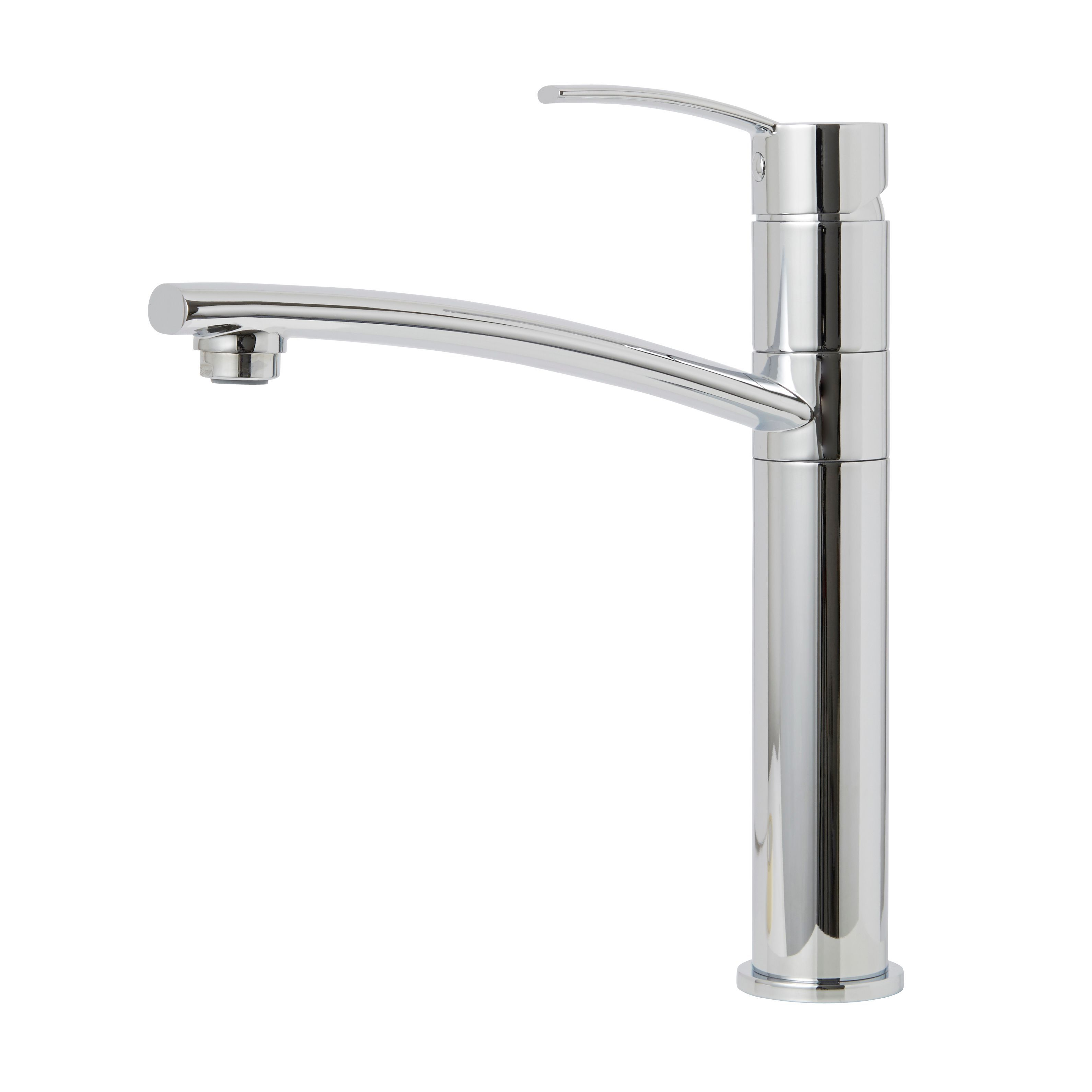 Cooke /& Lewis Tolmer Chrome finish Kitchen Top lever tap