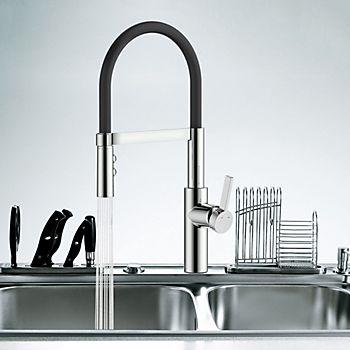 Cooke & Lewis Inglis Matt side lever kitchen tap