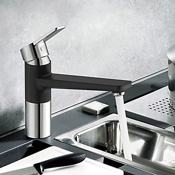Cooke & Lewis Fontes matt top lever kitchen tap