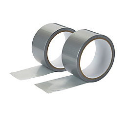 Diall Silver Gaffer tape (L)10m (W)50mm, Pack of
