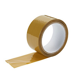 Diall Brown Packaging Tape (L)0.05M (W)50mm